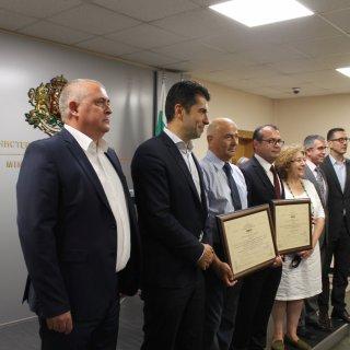 Министър Петков връчи три сертификата за инвестиции клас А на стойност над 54 млн. лв.
